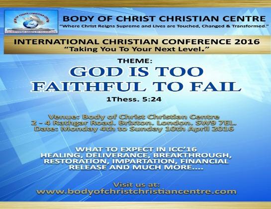 INTERNATIONAL CHRISTIAN CONFERENCE 2016  