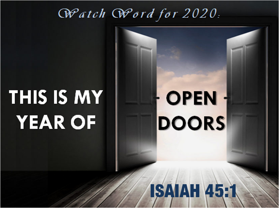 MY YEAR OF OPEN DOORS.