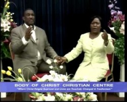 PASTORS CHRIS & FUNKE ADERINOLA. PREACHING: GOD IS FAITHFUL.